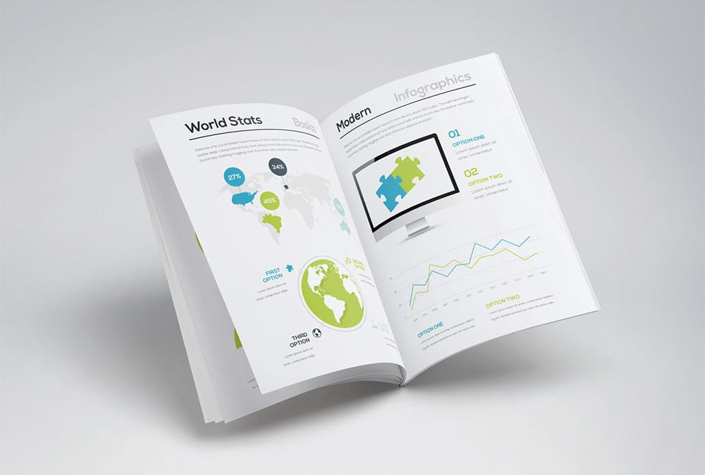 Infographic free brochure template for Infographic brochure template