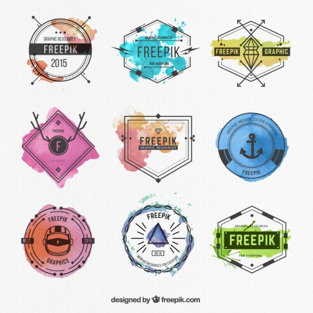 Set Of Monochrome Labels With Luxury Design: 190+ Free Vector Badges For Logo Design