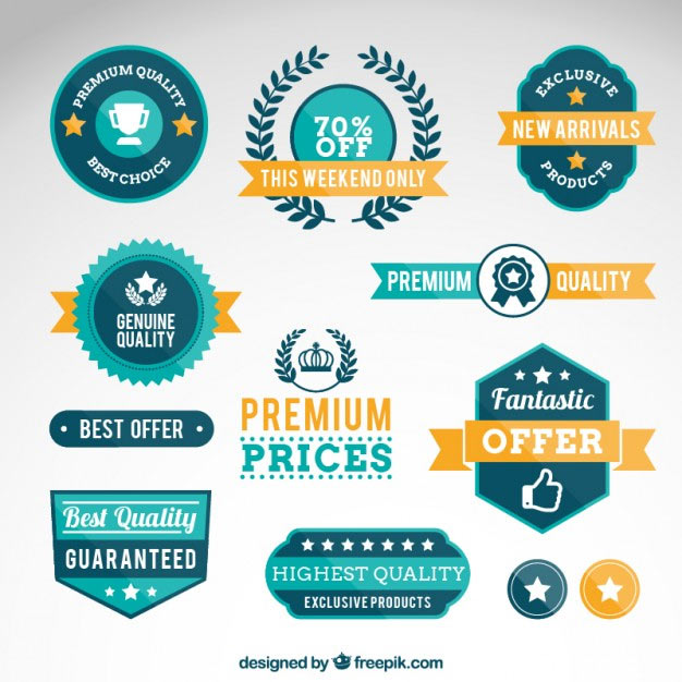 190 Free Vector Badges For Logo Design