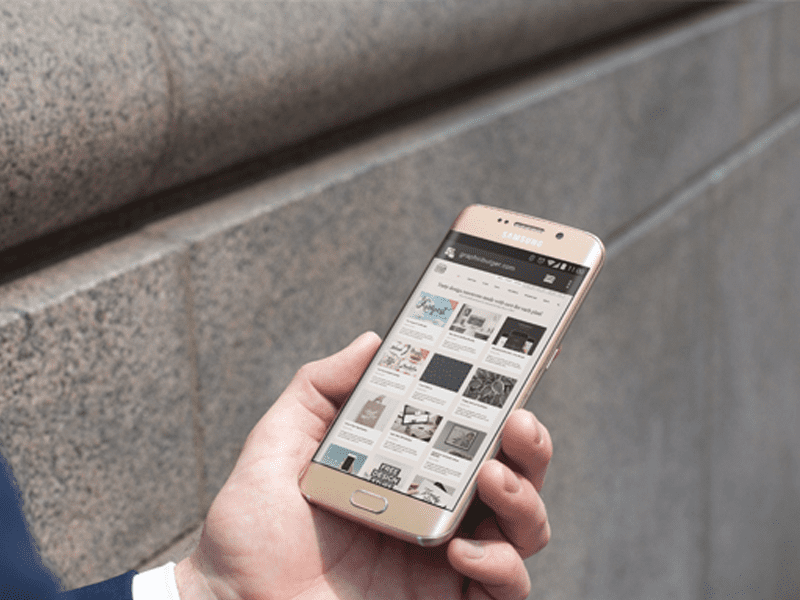 City Street Android MockUp PSD Template