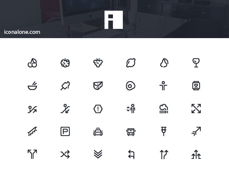 IconAlone: 110 Line Neat Free Icons Download