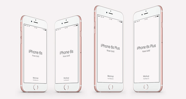 iPhone 6s Psd Rose Gold Mockup 1