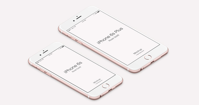 iPhone 6s Psd Rose Gold Mockup 3
