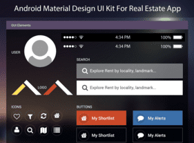 Android Design UI Kit PSD For Real Estate