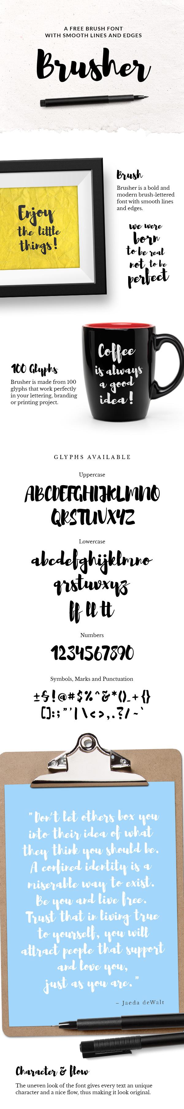 Brusher Free Font Download