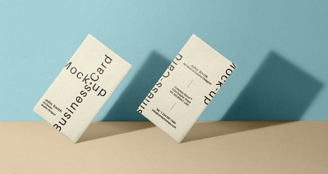 FREE Business Card MockUp PSD Template Vol33