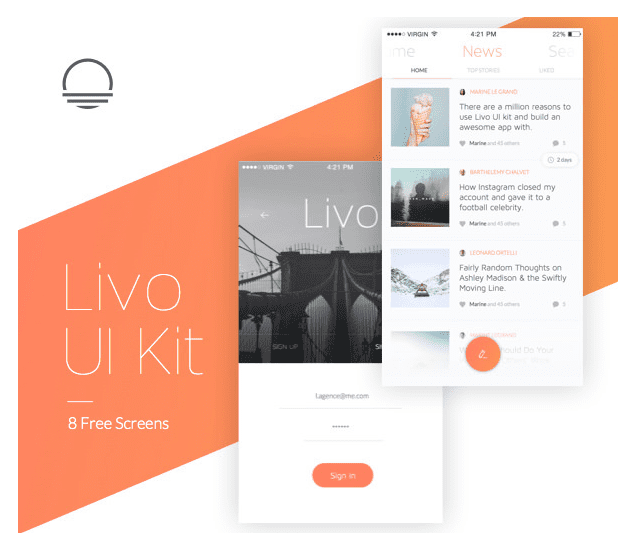 Livo FREE UI Kit Download
