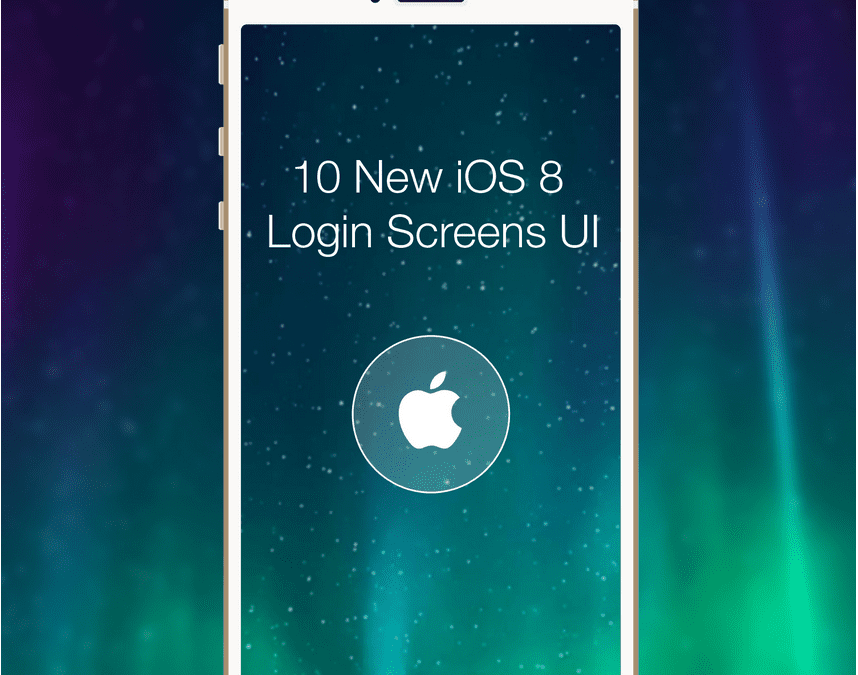 10 New iOS 8 Login Screen Mobile UI Designs FREE Donwload