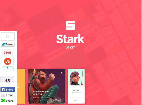 Stark – FREE UI Kit PSD Download