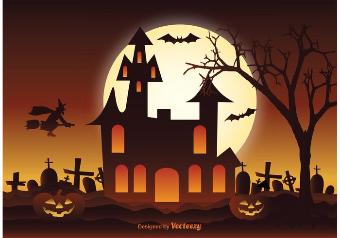 Spooky Halloween Illustration Vector