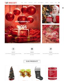 LT xMas Gift – Free Gift Shop Hikashop Joomla template