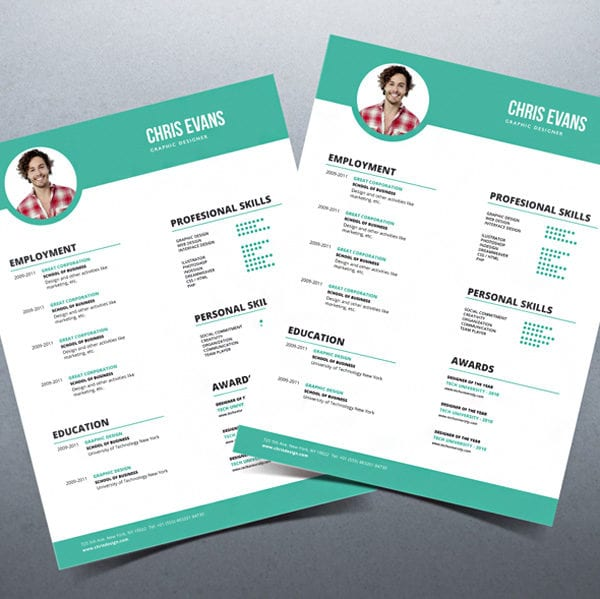 Modern resume cv with cover letter modern resume template with cover letter altavistaventures Gallery