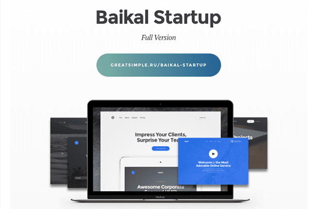 Baikal Startup Versatile FREE UI Kit Download
