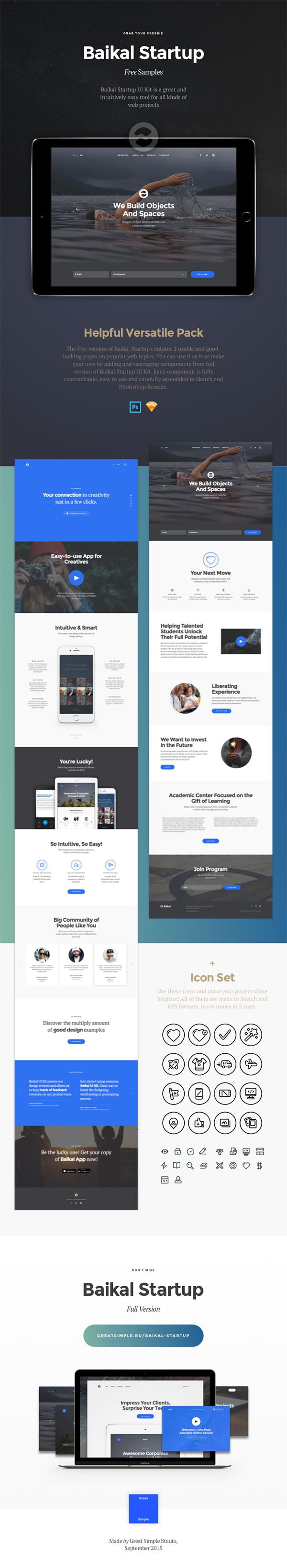 Baikal Startup Versatile FREE UI Kit