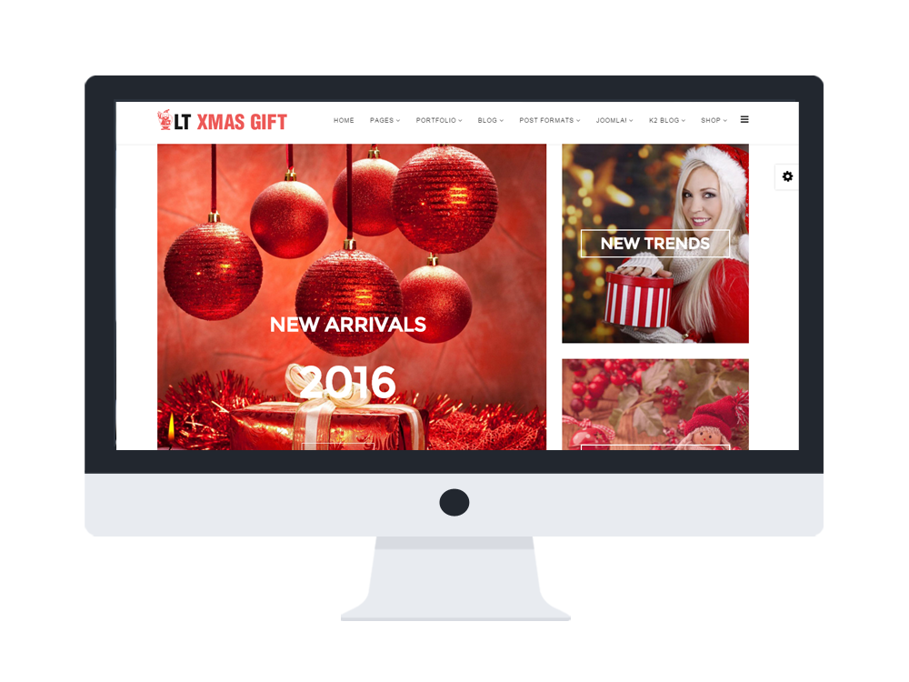 Gift shop joomla ecommerce template free