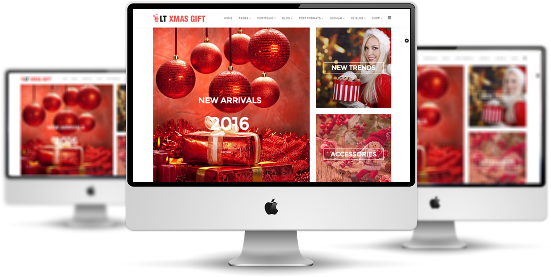 LT xMas Gift Joomla template Preview