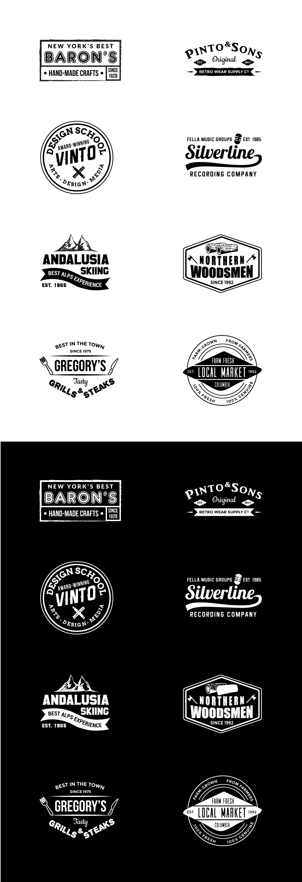 perfect free vintage logo mockup templates pack vol 1 responsive joomla and wordpress themes. Black Bedroom Furniture Sets. Home Design Ideas