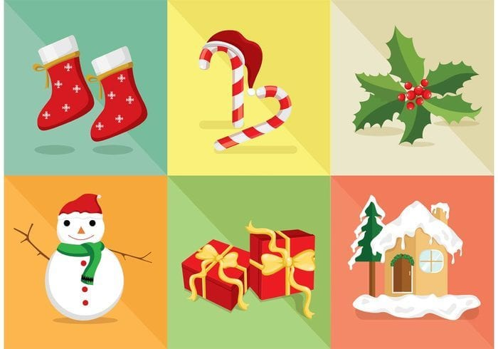 Christmas FREE Vector Icons Set