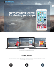 LT Apptune – Free Responsive Mobile Apps WordPress theme