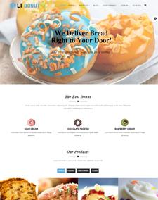 LT Donut Onepage – Free Single Page Bread Store / Dunut Joomla template