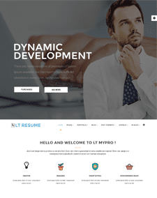 LT Resume – Free responsive portfolio wordpress theme