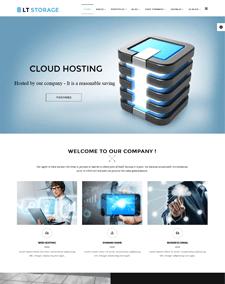 LT Storage Onepage – Free Sing Page Server / Hosting Joomla template