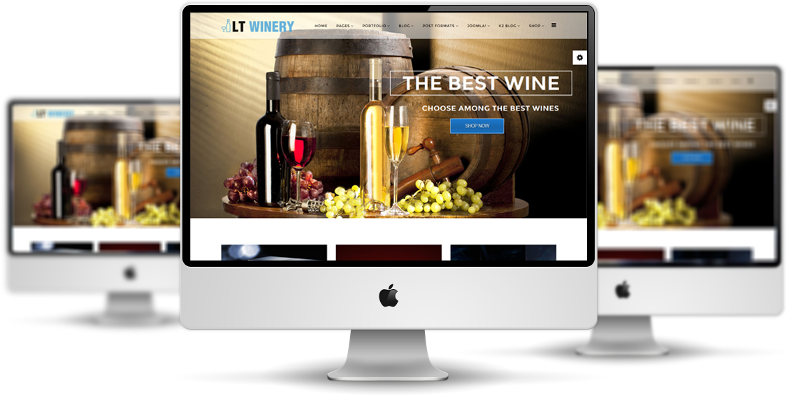 Lt winery free wine store hikashop joomla template lt winery joomla template main maxwellsz
