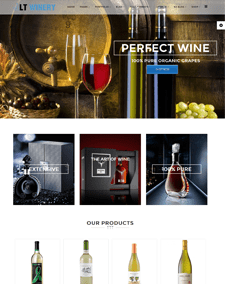 LT Winery – Free Responsive Wine Store WordPress theme