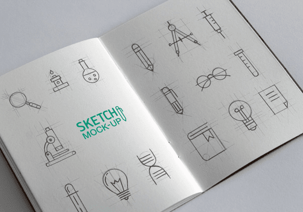 Sketchbook FREE MockUp PSD Templates