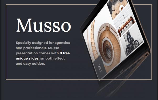 Slides Presentation Free Sample – Musso