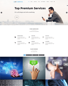 LT eService – Free Responsive Business / Online Services WordPress theme