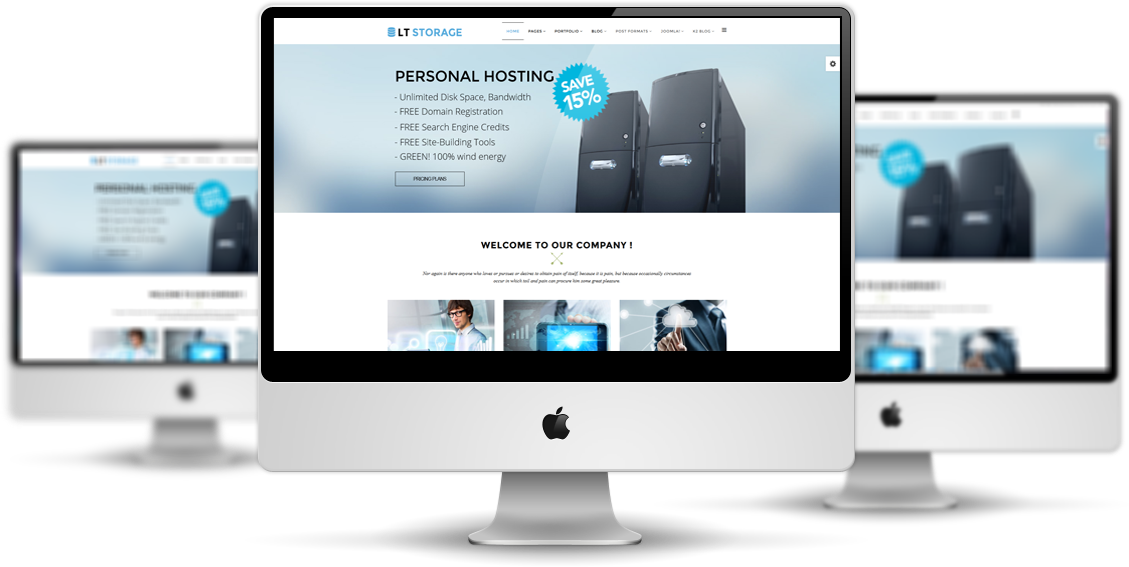 LT Storage – Free Server / Hosting Joomla template - Responsive ...