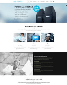 LT Storage Onepage – Free Responsive Server / Hosting Onepage WordPress theme