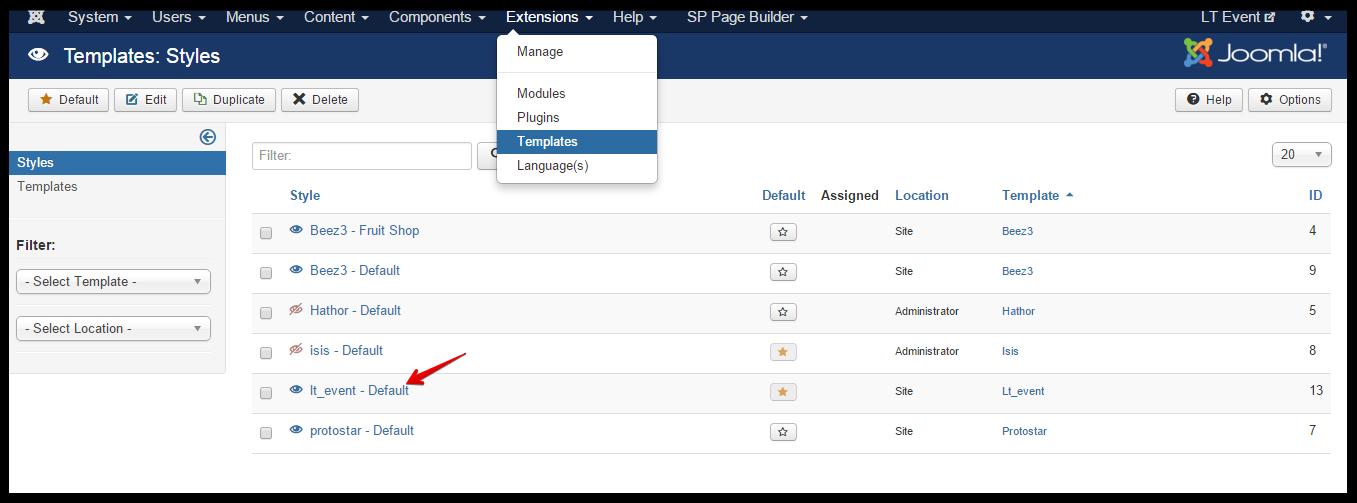 Lt event joomla template documentation responsive joomla and 14 maxwellsz