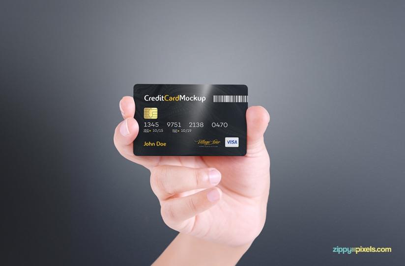 Credit Card Free Mockup Responsive Joomla And Wordpress
