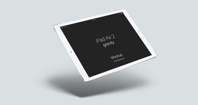 iPad Air 2 Gravity FREE PSD Mockup Template