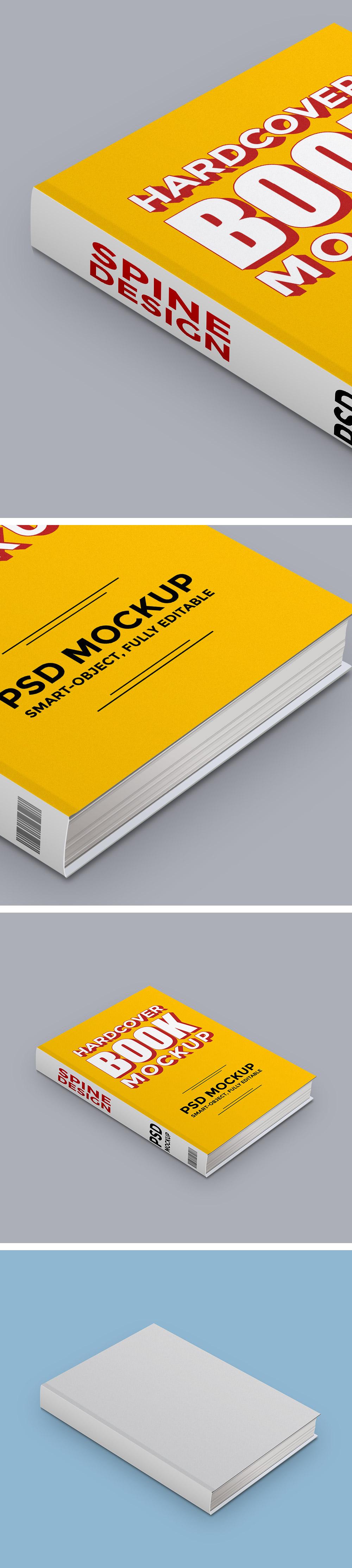 Hardcover Book FREE PSD Mockup