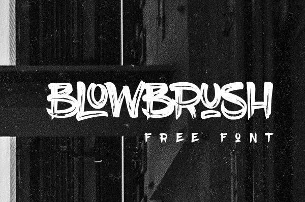 BlowBrush Free Font Download