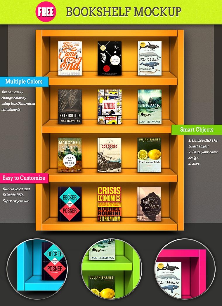 Bookshelf Free MockUp