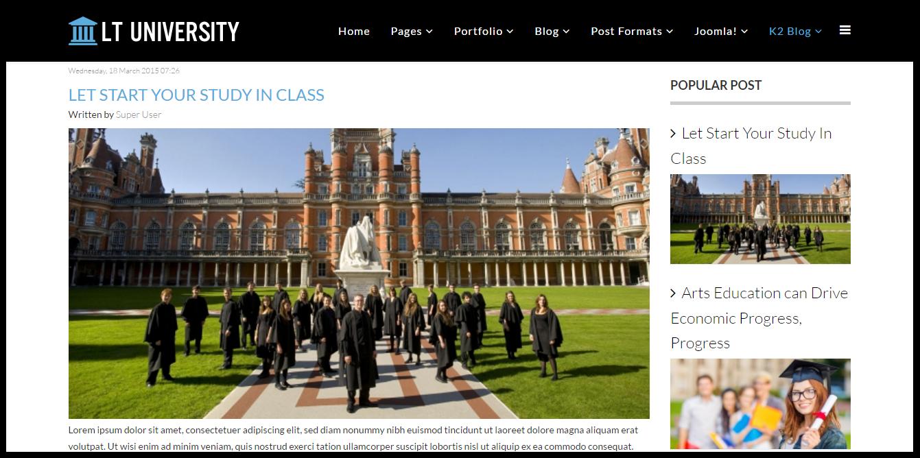 LT University Joomla! template documentation - Responsive Joomla and ...