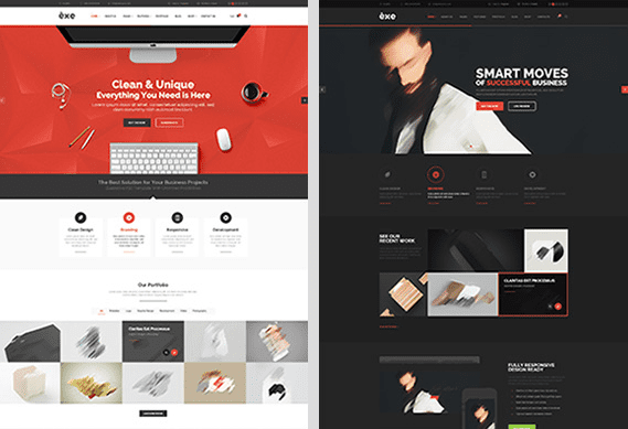 Exe Multipurpose Free PSD Template Download