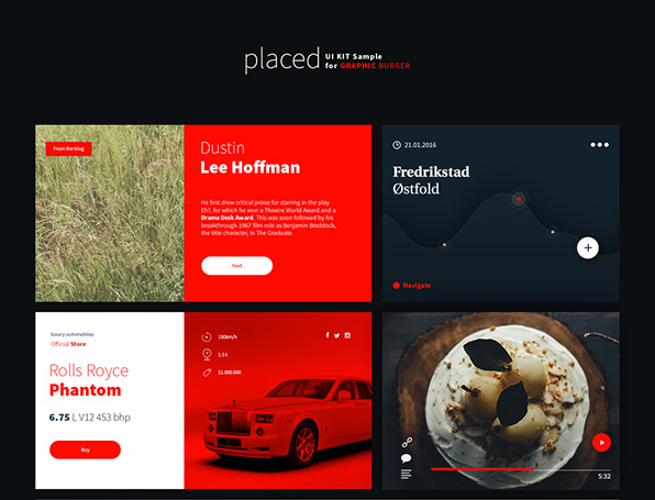 Placed Free UI Kit PSD