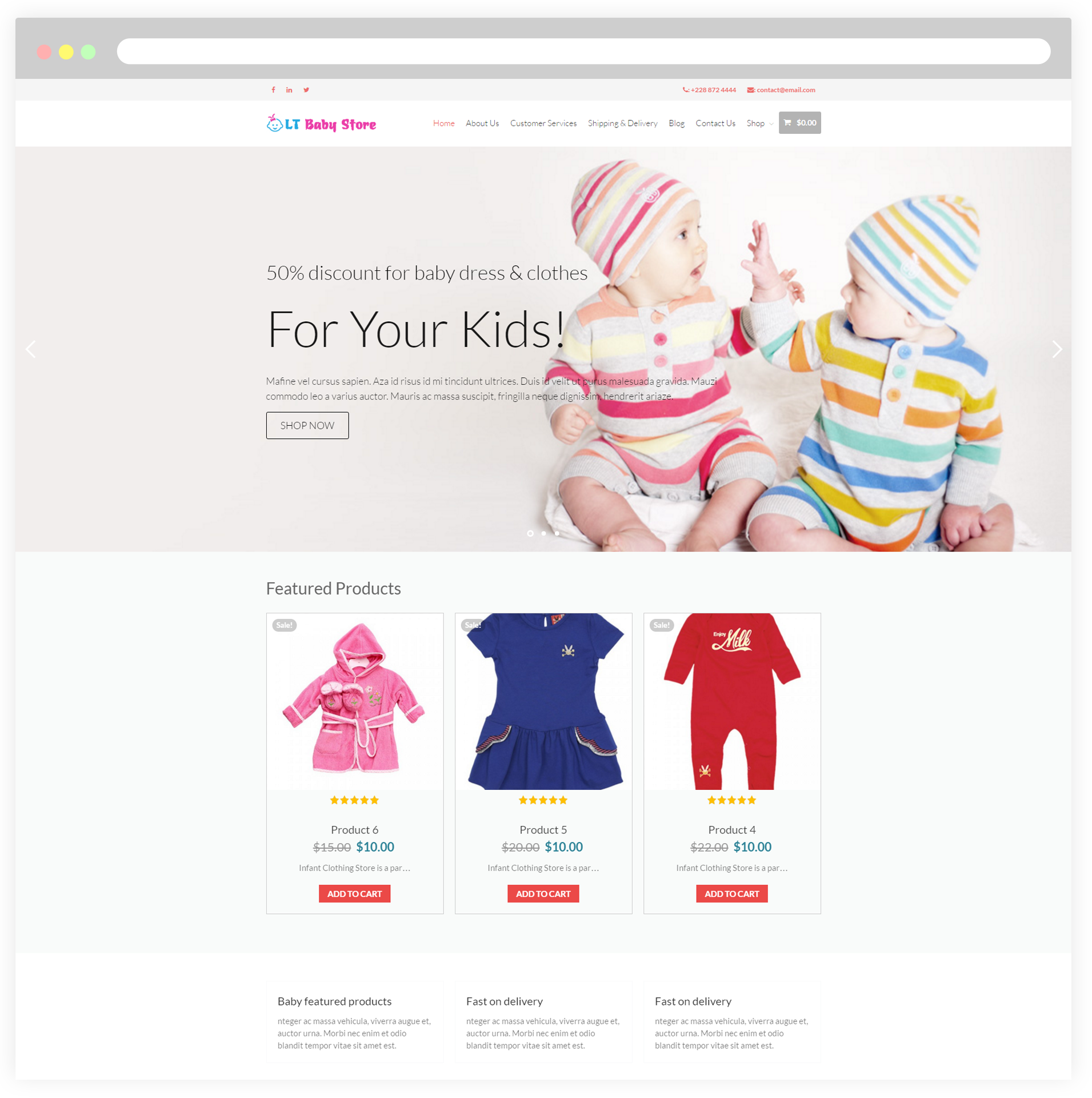 Shopping online for newborn babies