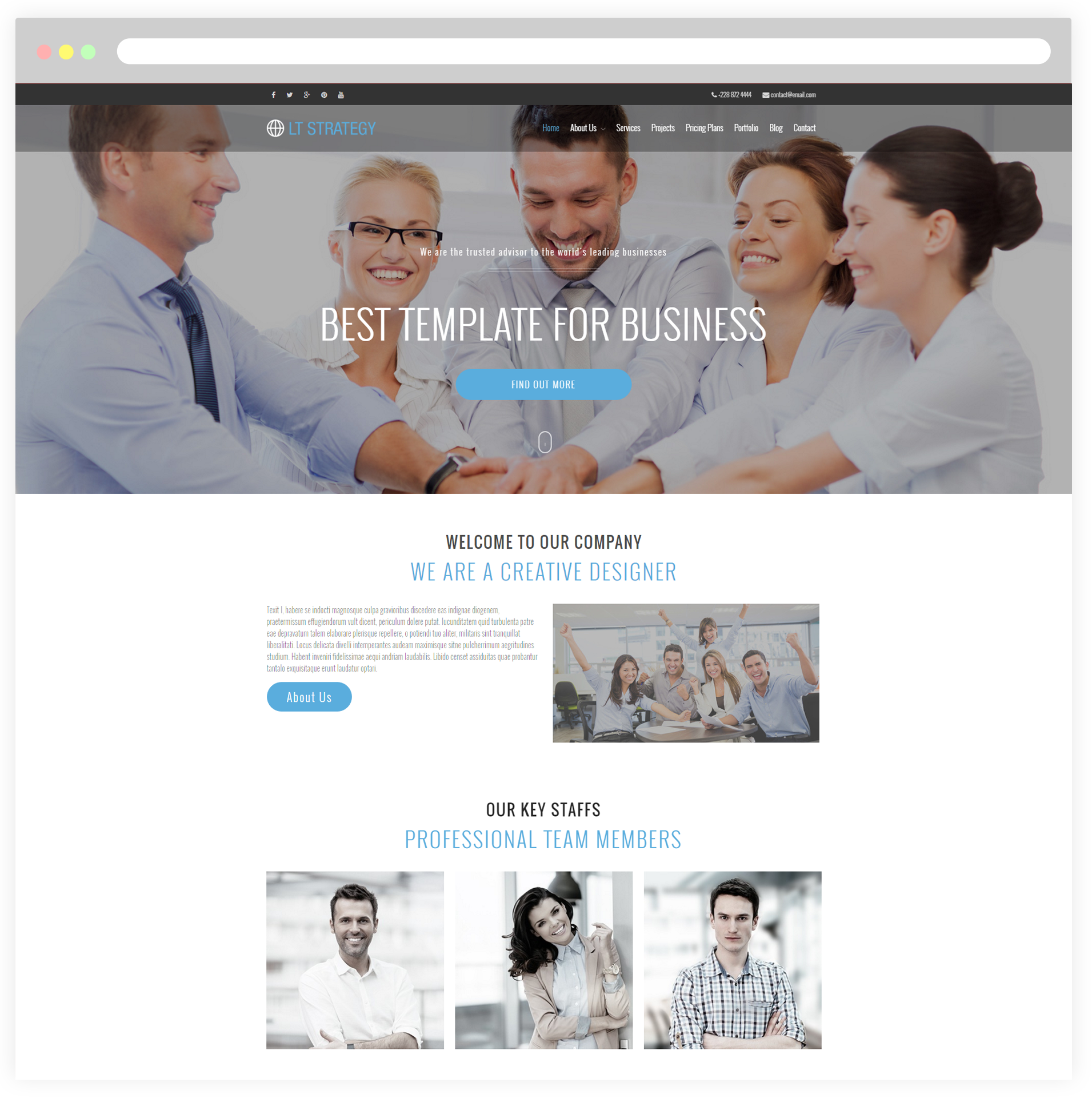 Lt strategy onepage free responsive business creative onepage home1 free wordpress theme cheaphphosting Images