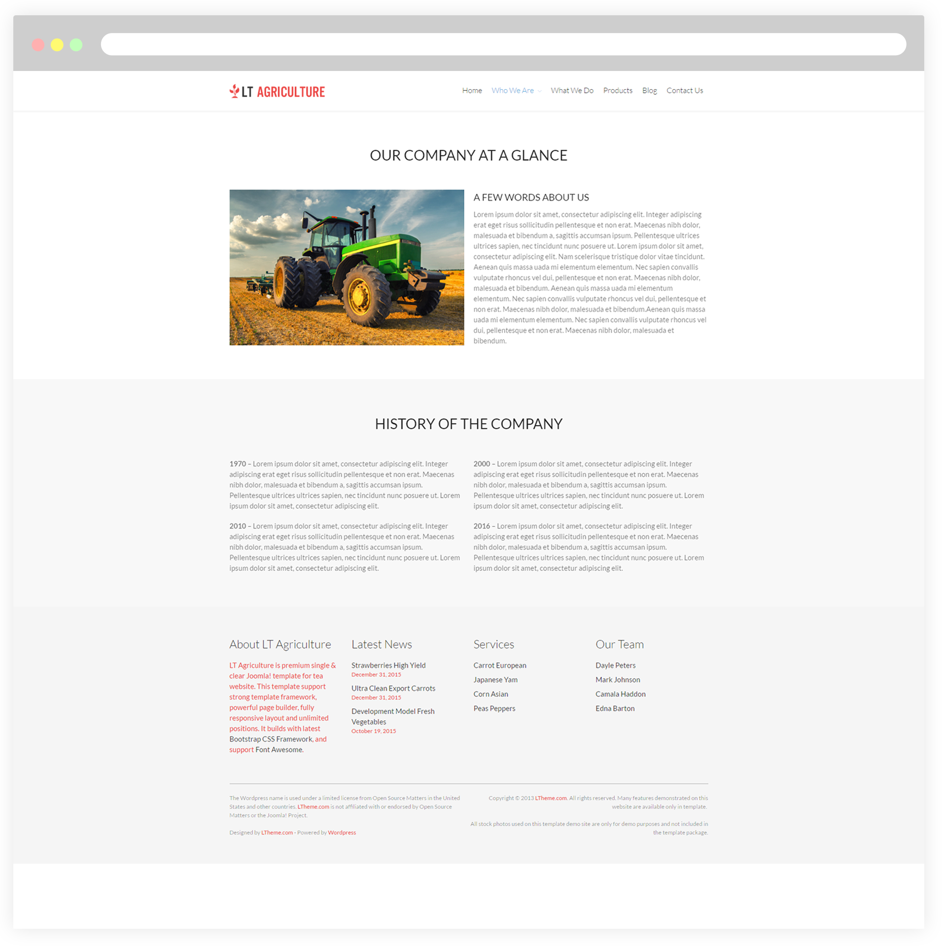 LT Agriculture Free Responsive Farmer Vegetable WordPress Theme - About page template