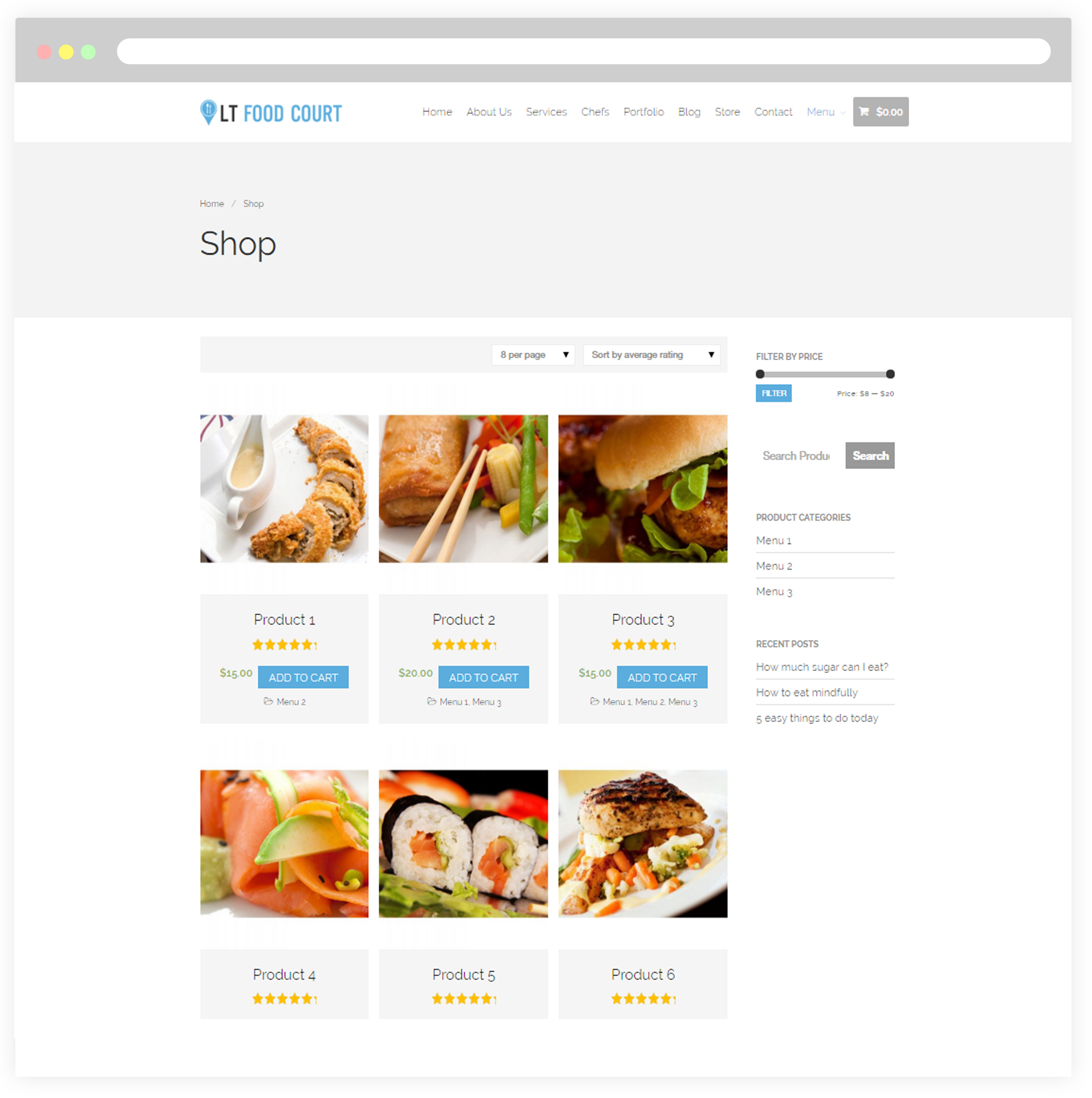 Responsive WordPress Theme Food Delivery