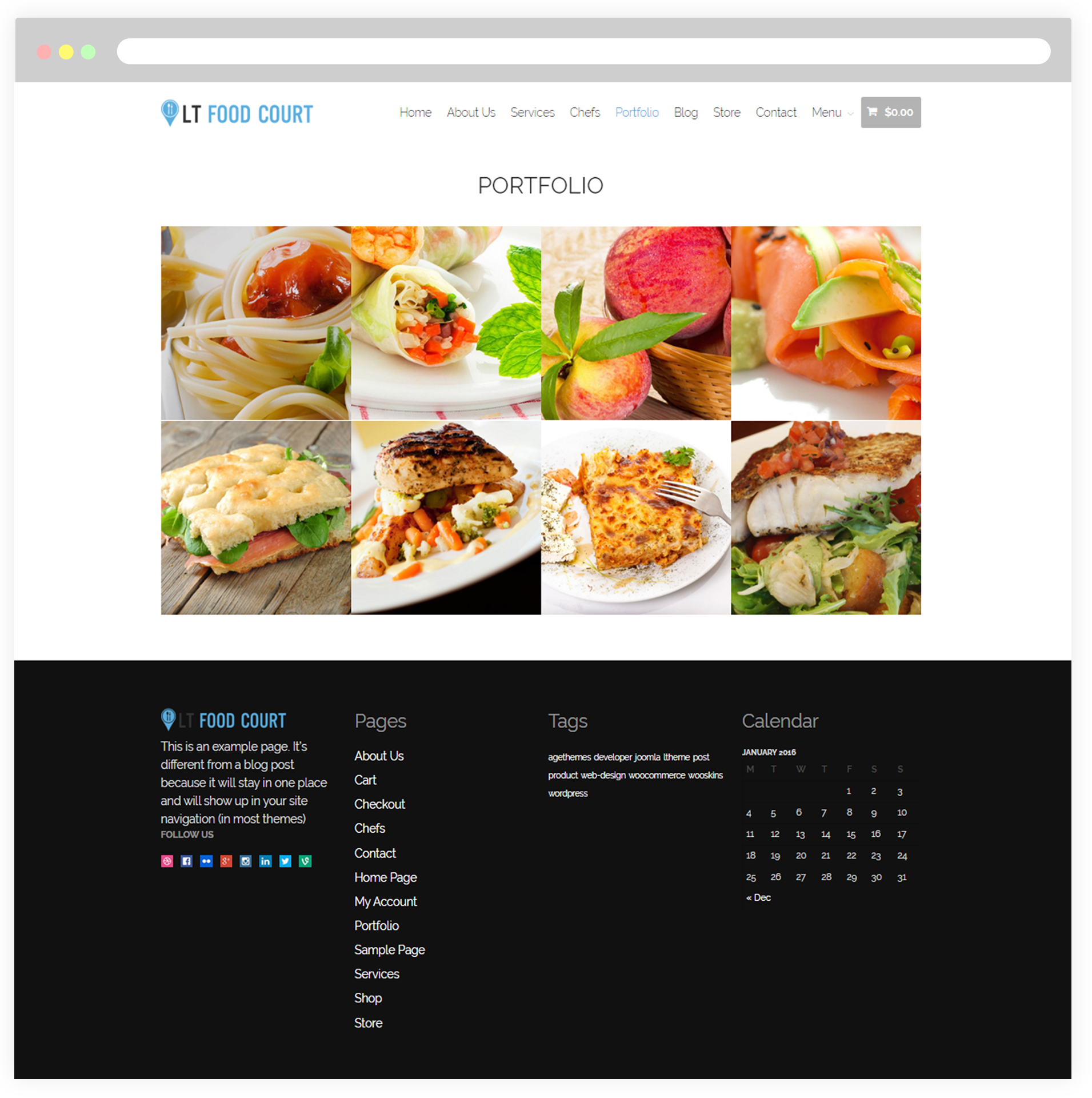 LT Food Court – Free Responsive Food Order / Food Court WordPress ...