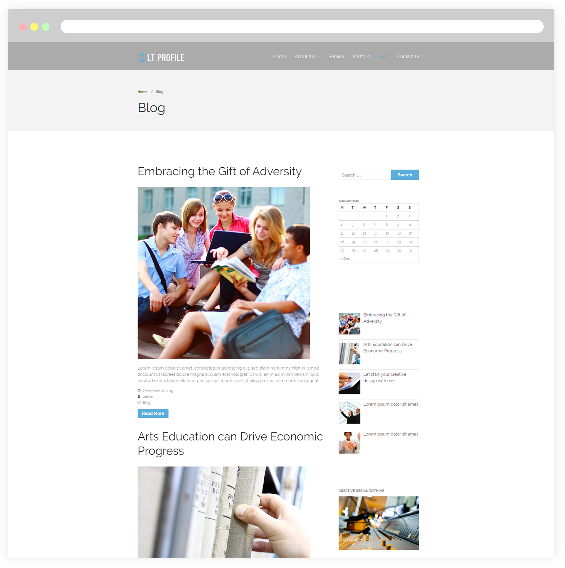 lt profile  u2013 free responsive cv    wordpress profile theme