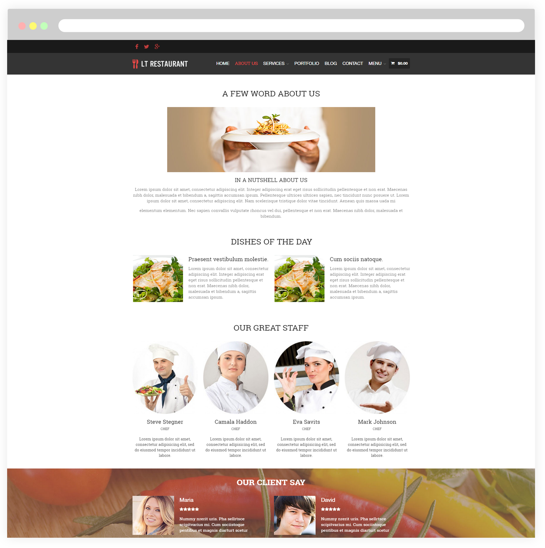lt restaurant free responsive food order wordpress restaurant