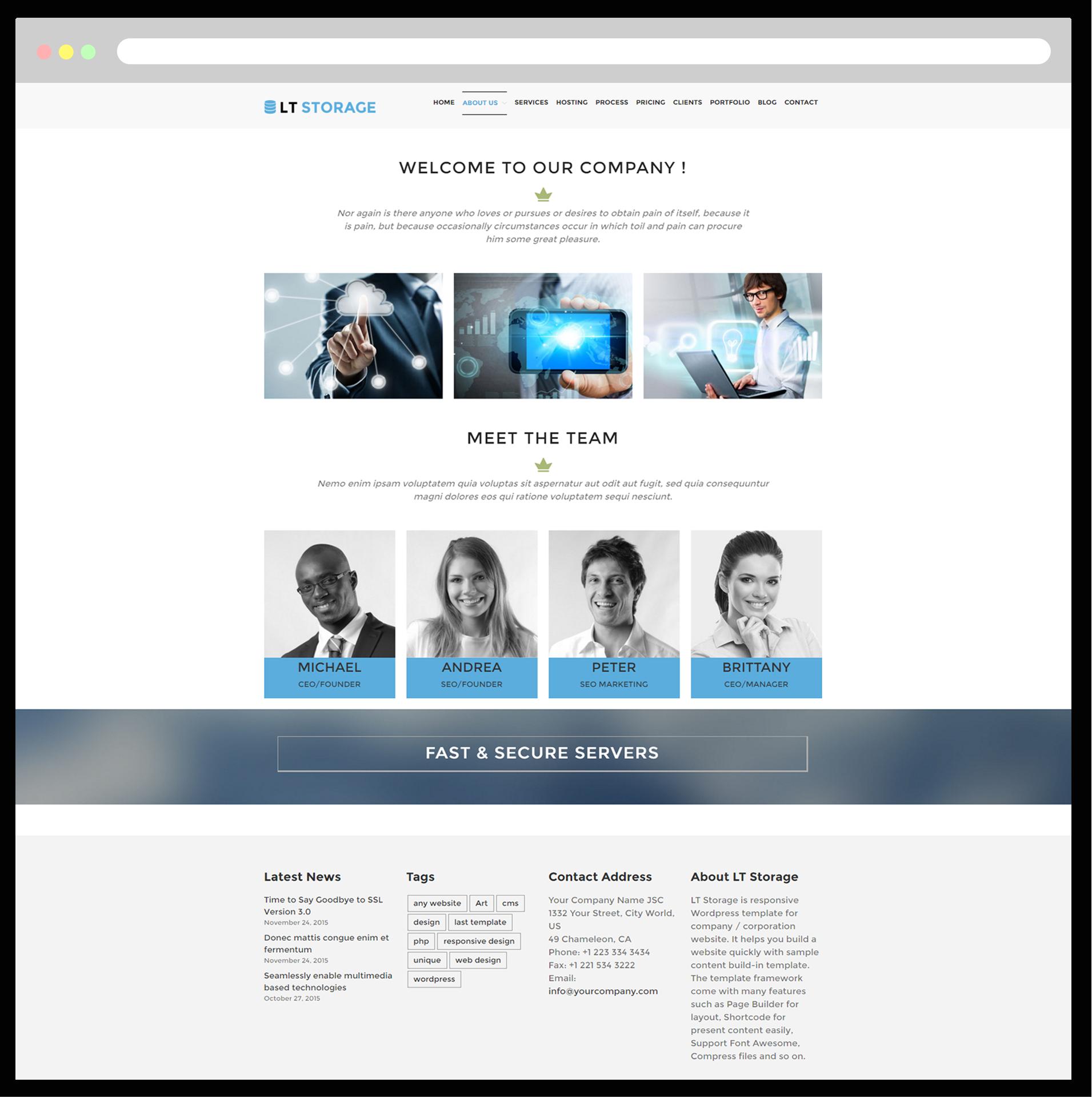 Lt Storage Free Responsive Server Wordpress Hosting Theme